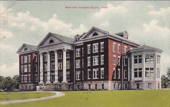 Ohio Elyria Memorial Hospital 1910 / HipPostcard