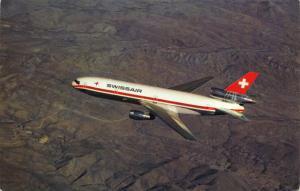 Postcard SWISSAIR DC10-30 Aircraft Aeroplane