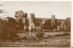 Sussex Postcard - Hurstmonceux Castle - Real Photograph - Ref 7259A