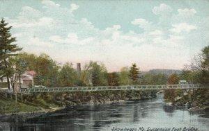 SKOWHEGAN, Maine, PU-1907; Suspension Foot Bridge