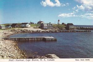 Neil's Harbor, Lighthouse, Cape Breton Island, Nova Scotia, Canada, 50-70s