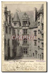 Old Postcard Pau Inner Court of the Castle