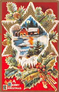 Post Card Old Vintage Antique A Merry Christmas Unused