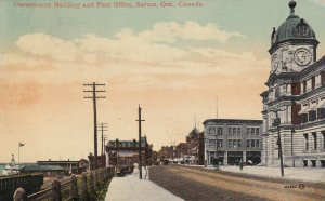SARNIA, Ontario, Canada, PU-1912; Government Building And Post Office