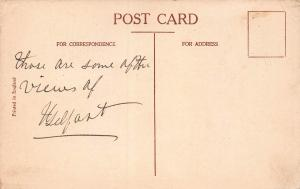 City Hall Gardens, Belfast, Northern Ireland, Early Postcard, Used