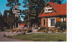 Flowers Outside Entrance of Alpine Village, Jasper National Park, Jasper, Alb...