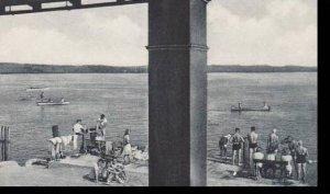 New York   Chautauqua Bathing Beach from Pier Club  Albertype