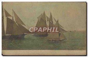 Postcard Old Sailing Ships