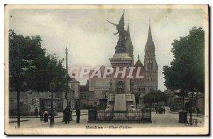 Old Postcard Moulins Place d'Allier