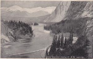 BOW VALLEY from C. P. R. Hotel, Alberta, Canada, 00-10s