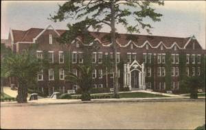Tallahassee FL FSU Reynolds Hall Hand Colored Postcard bck