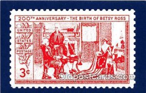 Betsy Ross American Flag Stamp Unused