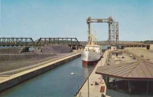 St. Lawrence Seaway Lock, Montreal, Quebec, Canada, 40-60s