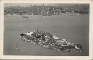 Vintage Postcard Alcatraz Island San Francisco CA UNPOSTED