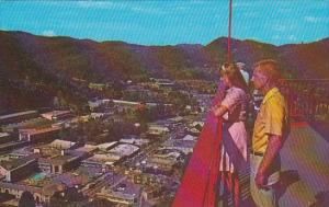 Panoramic View Of Business Section Gatlinburg Tennessee