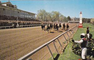 They're Off!, Oaklawn Horse Race Tracks, HOT SPRINGS NATIONAL PARK, Arkansa...