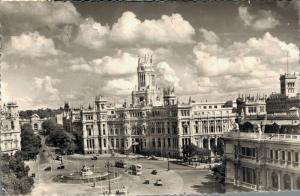 Spain Madrid Plaza de la Cibeles y Palacio de Comunicaciones RPPC 01.77