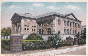 NEW BRUNSWICK, New Jersey, PU-1919; Voorhers Library, Rutgers College