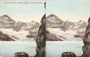 Double View, Lake McArthur & Mount Biddle, Ontario, Canadian Rockies, Canada, PU