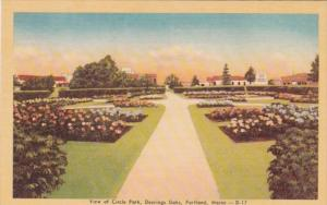 Maine Portland View Of Circle Park Deering Oaks Dexter Press