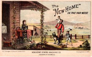 VICTORIAN TRADE CARD, NEW HOME IN THE FAR WEST.