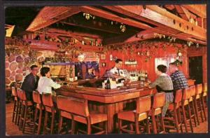 Tepee Bar Lake Lawn Lodge Delavan WI Post Card 5151