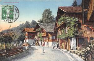 Switzerland Oberlaender Haeuser typical street strasse 1912 AK