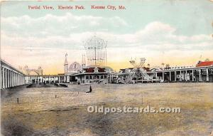 Kansas City, Missouri, MO, USA Postcard Partial View, Electric Park Unused