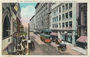 MONTREAL , Quebec, Canada, 1910-20s; St Catherine Street