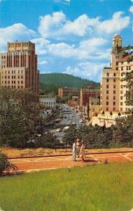 Hot Springs National Park Arkansas~Central Avenue~Folks on Overlook~1956 PC