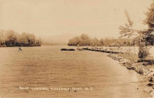 Assembly Point New York Boat Landing Scenic View Real Photo Postcard AA749