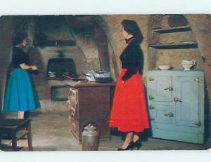 Pre-1980 KITCHEN AT UNDERGROUND GARDENS Fresno California CA hn6013