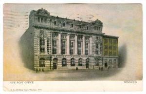 New Post Office , Winnipeg , Manitoba , Canada , PU-1910