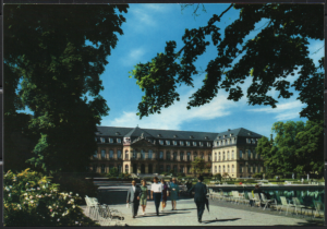 Post Card Stuttgart Germany  Neues Schloss