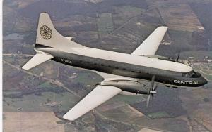 CENTRAL Airline's DART 600 Jet-prop Airliner airplane , 1950s