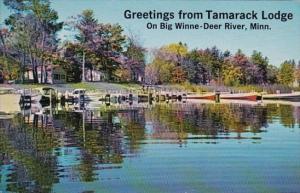Minnesota Deer River Greetings From Tamarock Lodge 1976