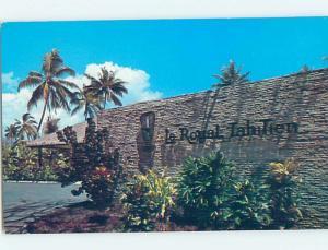 Pre-1980 HOTEL SCENE Royal Tahitien Hotel Tahiti G9834