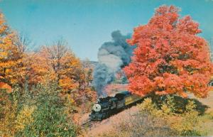 Steam Train Excursions in Fall of 1963 - Steamtown USA Bellows Falls VT, Vermont