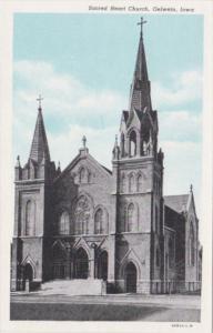 Church Sacred Heart Church Oelwein Iowa Curteich
