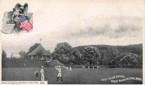 Golf Club House, Great Barrington, Mass., Early A. Livingston Postcard, Unused