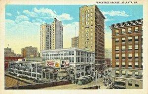 ATLANTA GA~PEACHTREE ARCADE~CAMEL CIGARETTES BILLBOARDS 1920s POSTCARD