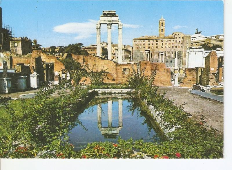 Postal 032678 : Roma. Roman Forum - Temple of Castor and Pollux and Capitolin...