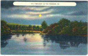 Twilight in the Poconos, Pennsylvania, PA, Linen
