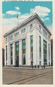 OIL CITY , Pennsylvania, 1900-10s ; Oil City National Bank