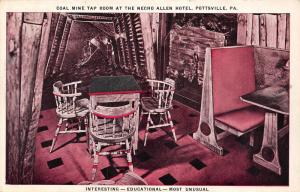 Pottsville PA~Necho Allen Hotel~Coal Mine Tap~Bar Booth~Use Anthracite Fuel~1939