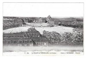 France Versailles Palais Panorama Vtg Bourdier Postcard