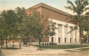 Albertype Ann Arbor Hill Auditorium University Michigan 1920s Postcard Wahr 383