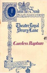 Careless Rapture Theatre Ivor Novello Zena Dare Royal Drury Lane Programme
