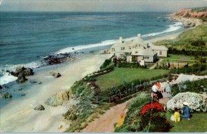 Malibu Encinal Santa Monica to Oxnard Union Oil Co California Postcard