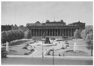 Berlin Lustgarten u. Altes Museum Brunnen Statues Fountains Park Reprint